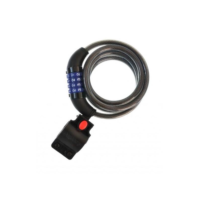 Zapięcie rowerowe spirala na szyfr NEXELO fi 10 x1500mm