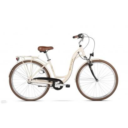 Rower Miejski BEST GELA M 17 CALI KREMOWY POŁYSK