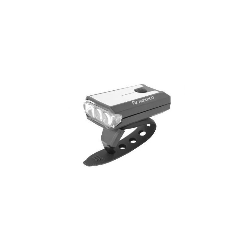 Lampka rowerowa przednia akumulatorowa 1-LED MINI NEXELO USB
