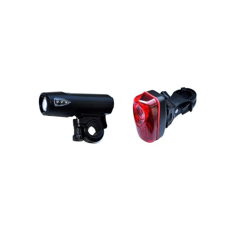 Lampka rowerowa - zestaw oświetlenia LAMPA NEXELO PRZÓD TYŁ 3 LED