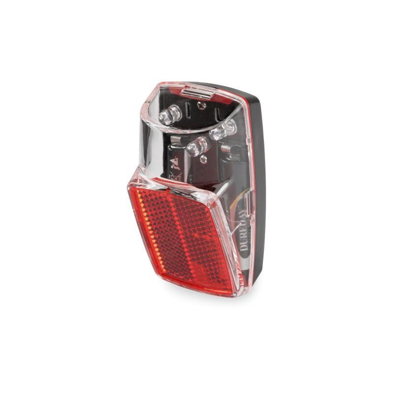 Lampka tylna Clear Red 3 LED na błotnik na baterie