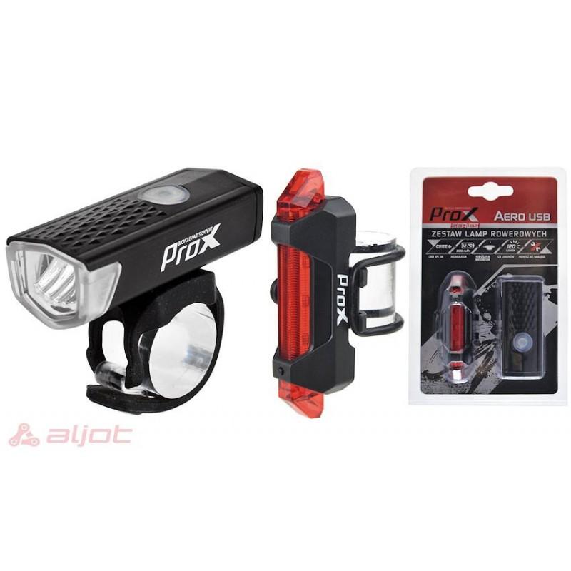 Lampki rowerowe przednie i tyle USB PROX AERO