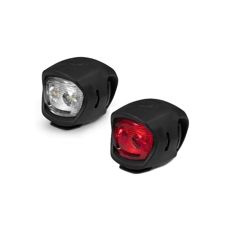 Oświetlenie rowerowe KROSS EASY SET Lampki rowerowe przód i tył